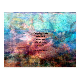Rumi Uplifting Quote About Energy And Universe Postcard