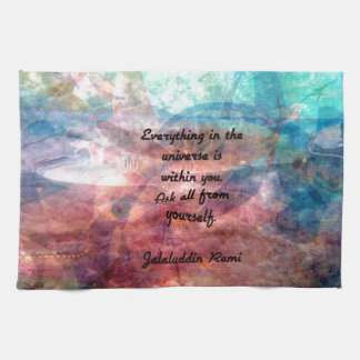 Rumi Uplifting Quote About Energy And Universe Tea Towel