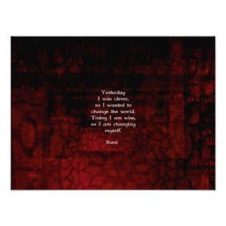 Rumi Wisdom Quote About Change & Cleverness Photograph