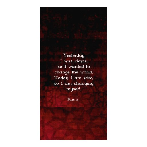 Rumi Wisdom Quote About Change & Cleverness Photo Card