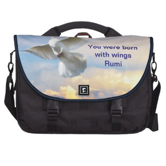 Rumi You were born with wings Laptop Commuter Bag