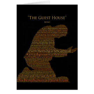 "Rumi's ""The Guest House"" Poem Greeting Card"