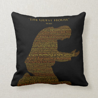 "Rumi's ""The Guest House"" Poem Throw Pillow"