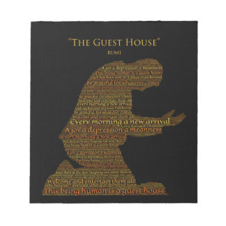 "Rumi's ""The Guest House"" Poem Tile Notepad"