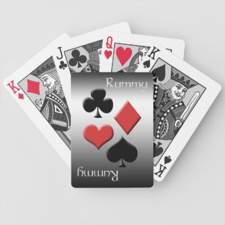 Rummy-Silver Metal Look Bicycle Playing Cards