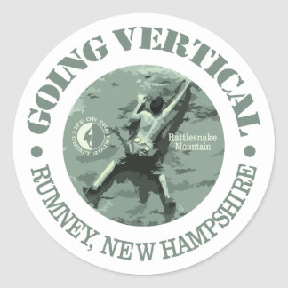 Rumney (Going Vertical) Classic Round Sticker
