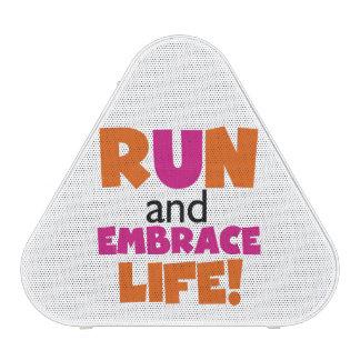 Run and Embrace Life Orange Pink