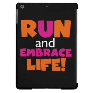 Run and Embrace Life Orange Pink iPad Air Case