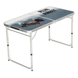Run away beer pong table