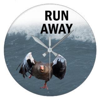 Run away large clock