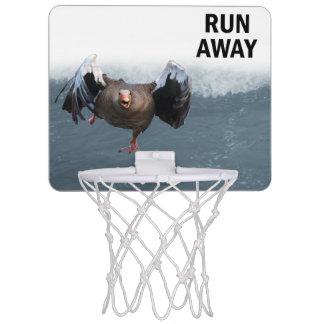Run away mini basketball hoop