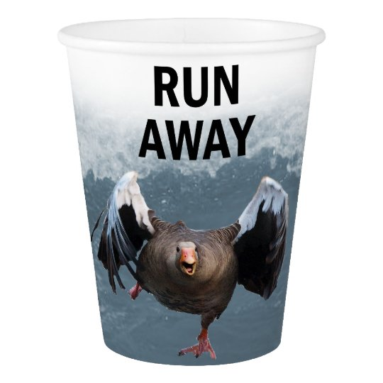 Run away paper cup