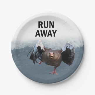 Run away paper plate
