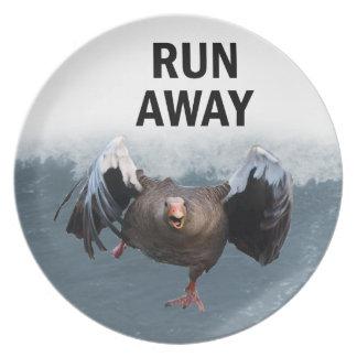 Run away plate