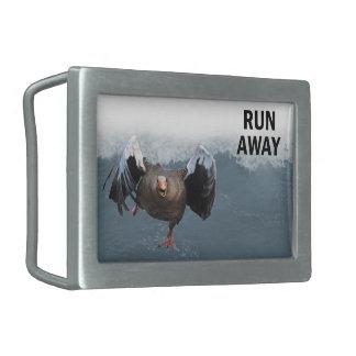 Run away rectangular belt buckle