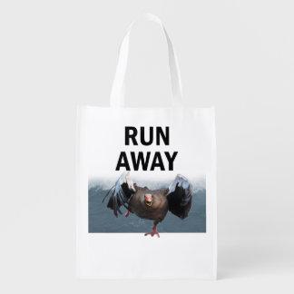 Run away reusable grocery bag