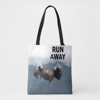 Run away tote bag