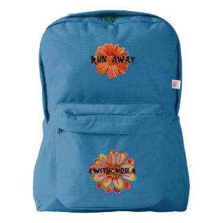 Run Away vibrant hippie/boho print || AKASHAIC Backpack
