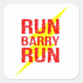 Run Barry run Square Sticker
