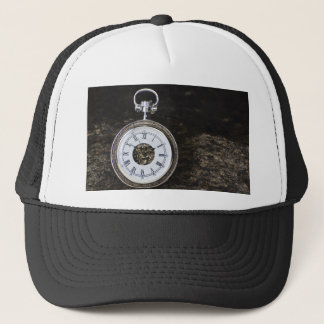 Run before time trucker hat