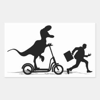 Run Bob Run Rectangular Sticker