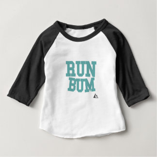 Run Bum Teal Baby T-Shirt