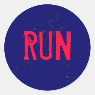 Run Classic Round Sticker