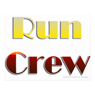 Run Crew (Text Only) Postcard