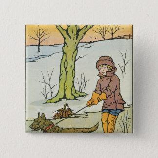 Run, Dandy Run, 20th century 15 Cm Square Badge