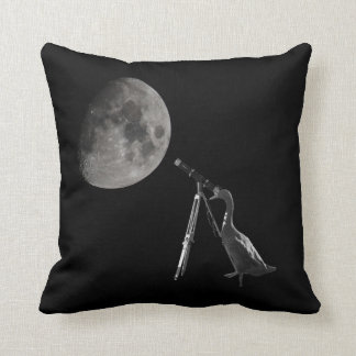 Run duck observes the moon cushion