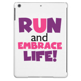 Run Embrace Life Purple Pink iPad Air Cover