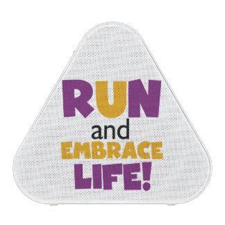 Run Embrace Life Purple Yellow