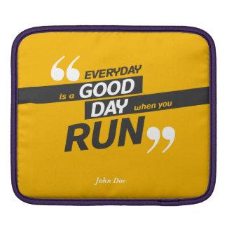 Run Everyday iPad pad Horizontal iPad Sleeve