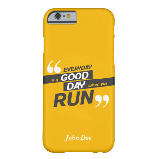 Run Everyday iPhone 6/6s, Barely There Phone Case