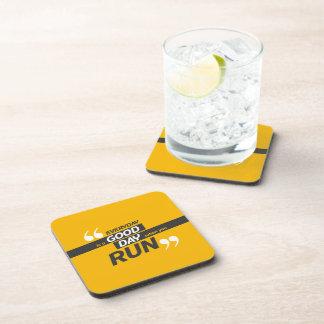 Run Everyday | Quote Hard Plastic Coasters