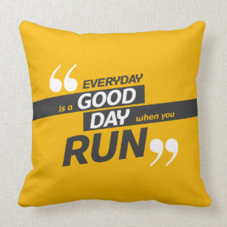 Run Everyday   Quote Polyester Throw Pillow