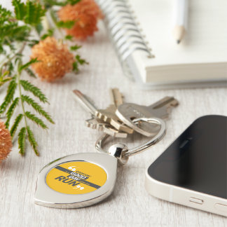 Run Everyday Twisted Heart Metal Keychain