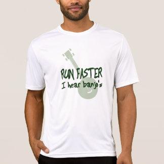 RUN FASTER ~ I hear banjo's Tshirt