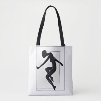 Run. Female silhouette Tote Bag