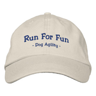 Run for Fun Dog Agility Embroidered Hat