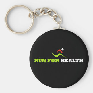 Run For Health (KeyChain) Basic Round Button Key Ring