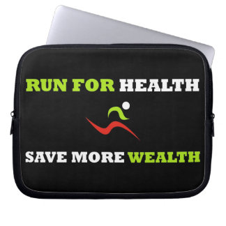Run For Health (Laptop Sleeve) Laptop Computer Sleeves