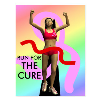 Run For The Cure Breast Cancer Awareness Postcard