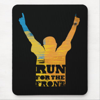Run For the Front: Watercolor Mouse Pad