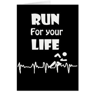 Run for Your Life Running Heart Rate Design Card