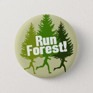 Run Forest, Protect the Earth Day 6 Cm Round Badge