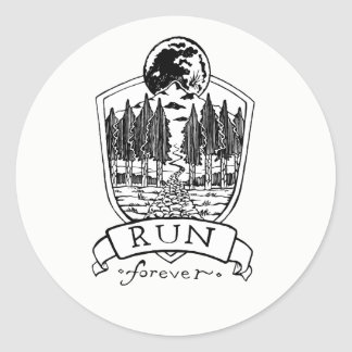 Run Forever Classic Round Sticker