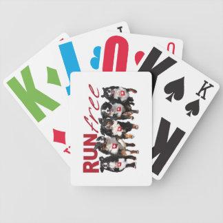 Run Free Berner playing card deck