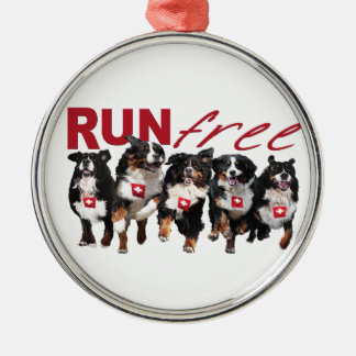 Run Free Metal Ornament
