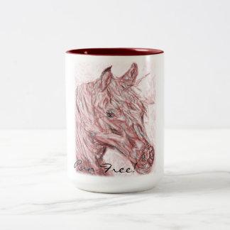 Run Free! Two-Tone Coffee Mug